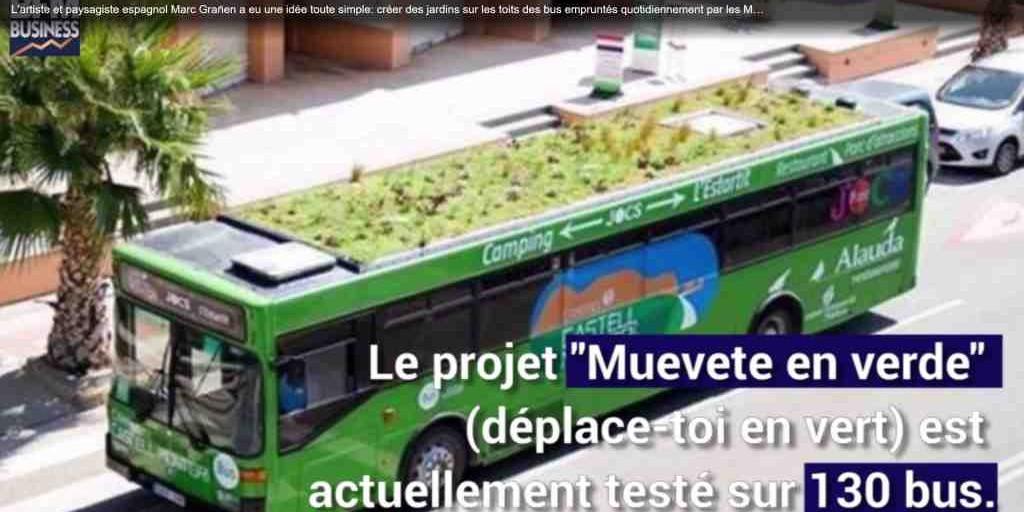 La ville de Madrid équipe le toit de ses bus d'un jardin.