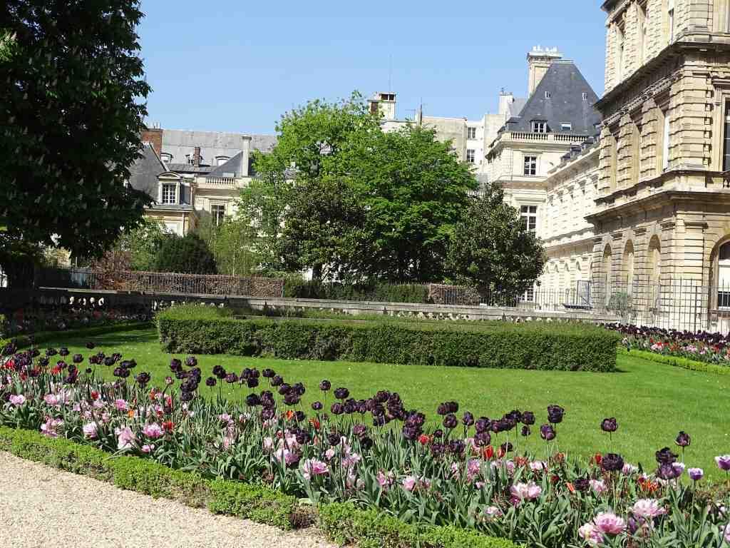 Jardin du luxembourg de la porte fleurus au s nat beaux for Jardins paris 2015