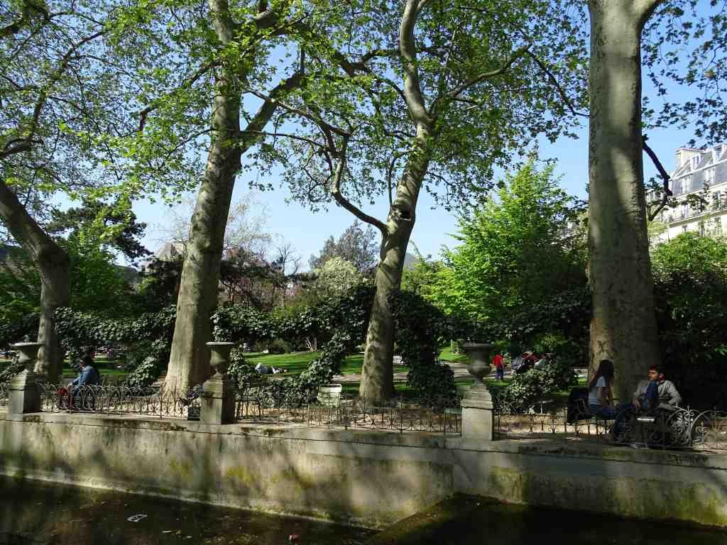 Jardin du luxembourg du cot de la fontaine de marie de for Jardin gratuit paris